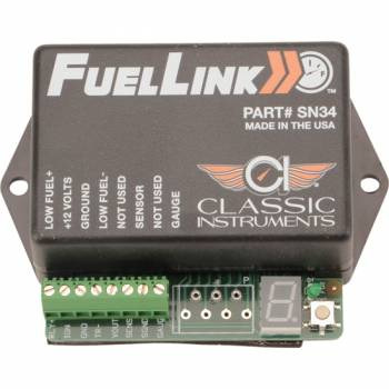 Classic Instruments - Classic Instruments Fuellink Fuel Level Interface 0-35 Ohms LED Calibration Readout Low Fuel Light Trigger - Kit