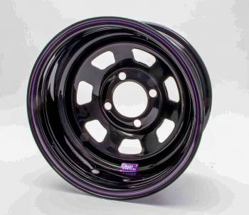 "Bart Wheels - Bart Mini Stock Wheel - Black - 13"" x 6"" - 4 x 4.25"" Bolt Circle - 3"" Back Spacing - 15 lbs."