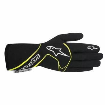 Alpinestars 2017 Tech 1 Race Glove - Black/Yellow Fluo - 3551117-155