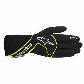 Alpinestars 2017 Tech 1 Race Glove - Black/Yellow Fluo - 3551117-155