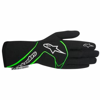 Alpinestars 2017 Tech 1 Race Glove - Black/Green Fluo - 3551117-167