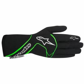 Alpinestars 2017 Tech 1 Race Glove - Black/Green Fluo - 3551117-167