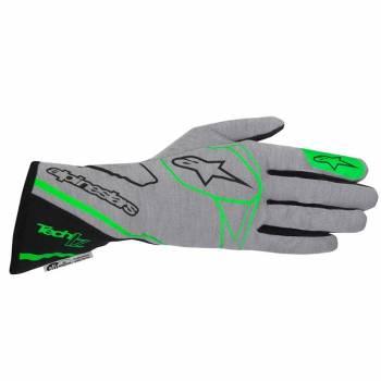 Alpinestars 2017 Tech 1-Z Auto Racing Glove - Mid Gray/Green Fluo/Black 3550217-967