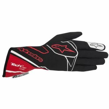 Alpinestars 2017 Tech 1-Z Auto Racing Glove - Black/Red/White 3550217-132