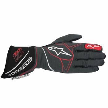 Alpinestars 2017 Tech 1-ZX Glove - Anthracite/Black/Red - 3550317-1431