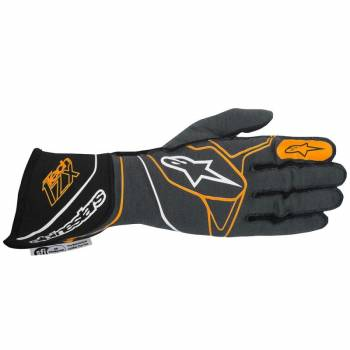 Alpinestars 2017 Tech 1-ZX Glove - Anthracite/Black/Orange Fluo - 3550317-1042