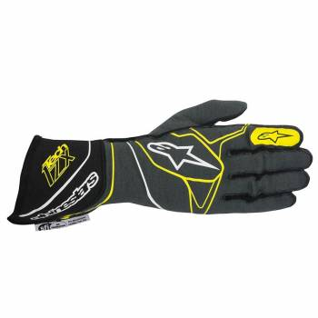 Alpinestars 2017 Tech 1-ZX Glove - Anthracite/Black/Yellow Fluo - 3550317-1045