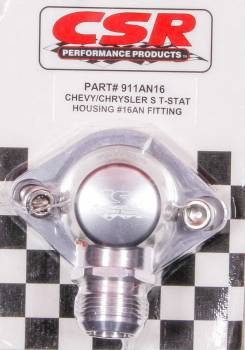 CSR Performance Products - CSR Performance Chevy Swivel Thermostat Housing - Clear