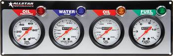 "Allstar Performance - Allstar Performance 4 Gauge Panel (OP/WT/OT/FP) - 2-5/8"" Gauges"