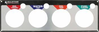 Allstar Performance - Allstar Performance Performance Replacement 4 Gauge Mounting Panel - WT/OP/OT/FP