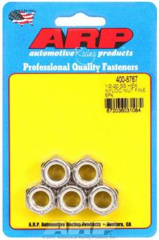 ARP - ARP Stainless Steel 6 Point Fine Nyloc Nuts - 1/2-20 (5)