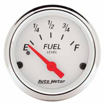 Auto Meter - Auto Meter Arctic White Fuel Level Gauge - 2-1/16 in.