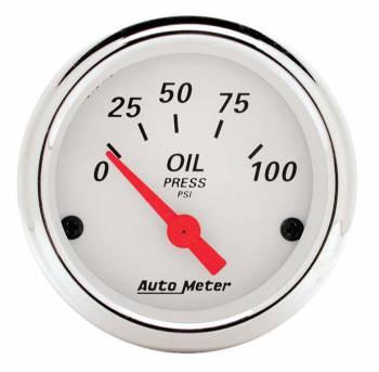 """Auto Meter - Auto Meter Arctic White Oil Pressure Gauge - 2-1/16"""""""