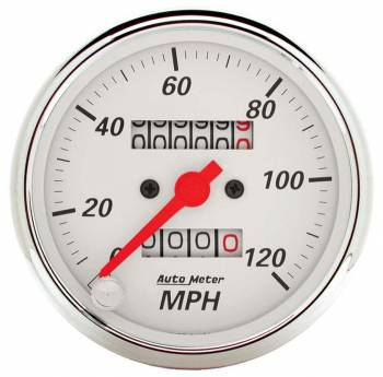 Auto Meter - Auto Meter Arctic White Mechanical Speedometer - 3-1/8 in.