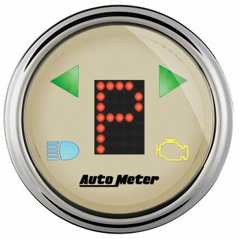 "Auto Meter - Auto Meter 2-1/16"" Gauge - PRNDL+ Beige Face / Chrome Bezel"