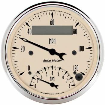 Auto Meter - Auto Meter Antique Beige Tachometer / Speedometer Combo - 3-3/8 in.