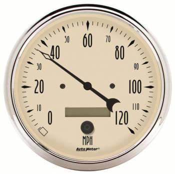 Auto Meter - Auto Meter Antique Beige Electric Programmable Speedometer - 5 in.
