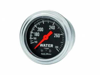 "Auto Meter - Auto Meter Traditional Chrome 2-1/16"" Water Temperature Gauge -100-280°"