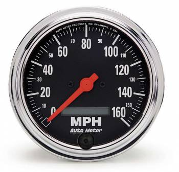 Auto Meter - Auto Meter Traditional Chrome Electric Programmable Speedometer - 3-3/8 in.