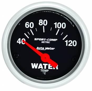 """Auto Meter - Auto Meter Sport-Comp Electric Water Temperature Gauge - 2-1/16"""""""