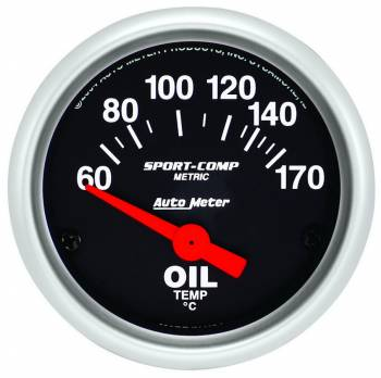 "Auto Meter - Auto Meter Sport-Comp Electric Oil Temperature Gauge - 2-1/16"""