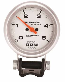 "Auto Meter - Auto Meter Sport-Comp Silver Mini Tachometer - 2-5/8"""