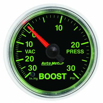 Auto Meter - Auto Meter GS Mechanical Boost / Vacuum Gauge - 2-1/16 in.