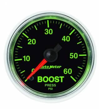 Auto Meter - Auto Meter GS Mechanical Boost Gauge - 2-1/16 in.