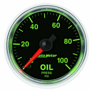 Auto Meter - Auto Meter GS Mechanical Oil Pressure Gauge - 2-1/16""