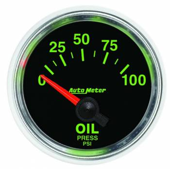 Auto Meter - Auto Meter GS Electric Oil Pressure Gauge - 2-1/16""