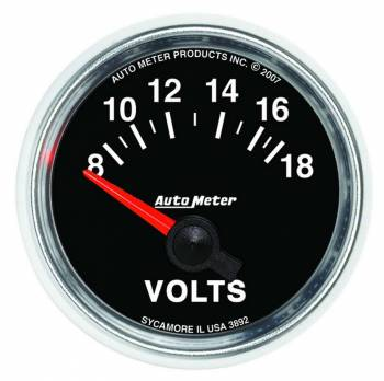 """Auto Meter - Auto Meter GS Electric Voltmeter Gauge - 2-1/16"""""""