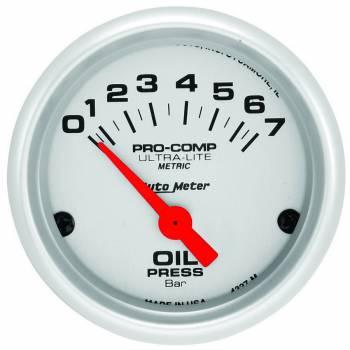 "Auto Meter - Auto Meter Ultra-Lite Electric Oil Pressure Gauge - 2-1/16"""