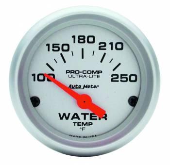 "Auto Meter - Auto Meter Mini Ultra-Lite Electric Water Temperature Gauge - 2-1/16"" - 100°-250° F"