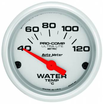 Auto Meter - Auto Meter Ultra-Lite Electric Water Temperature Gauge - 2-1/16""