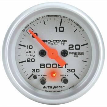 Auto Meter - Auto Meter Ultra-Lite Electric Boost/Vacuum Gauge - 2-1/16 in.