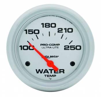 "Auto Meter - Auto Meter Ultra-Lite Electric Water Temp Gauge - 2-5/8"" - 0-250"