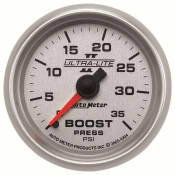 Auto Meter - Auto Meter Ultra-Lite II Mechanical Boost Gauge - 2-1/16 in.