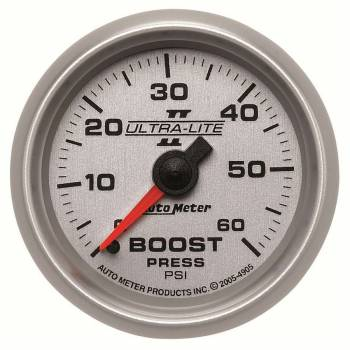 Auto Meter - Auto Meter Ultra-Lite II Mechanical Boost Gauge - 2-1/16 in.