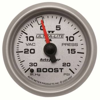 Auto Meter - Auto Meter Ultra-Lite II Mechanical Boost / Vacuum Gauge - 2-1/16 in.