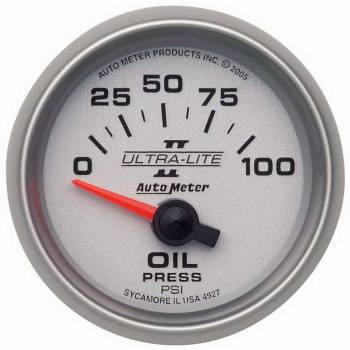 "Auto Meter - Auto Meter 2-1/16"" Ultra-Lite II Electric Oil Pressure Gauge - 0-100 PSI"