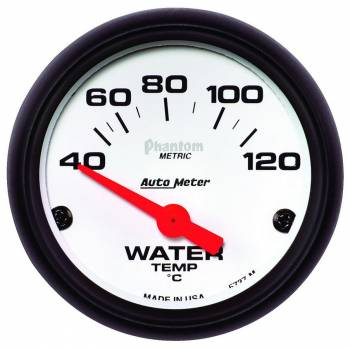 Auto Meter - Auto Meter 2-1/16 Phantom Water Temp Gauge - Electric