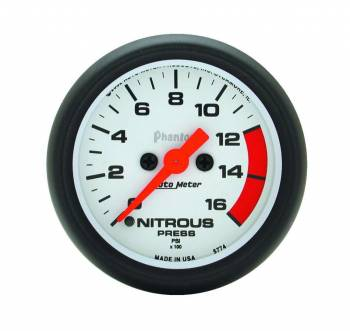Auto Meter - Auto Meter Phantom Electric Nitrous Pressure Gauge - 2-1/16 in.