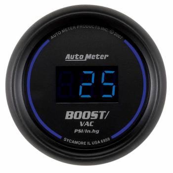 "Auto Meter - Auto Meter 2-1/16"" Cobalt Boost/Vacuum Gauge -30"" Hg/30 PSI"