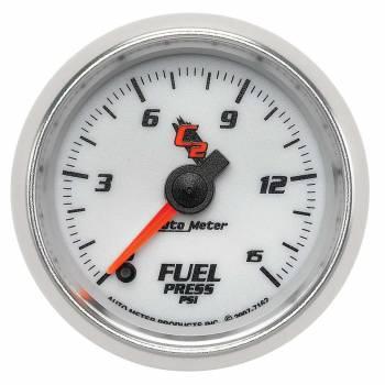 Auto Meter - Auto Meter 2-1/16 C2/S Fuel Pressure Gauge 0-15 psi