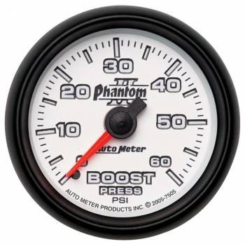 Auto Meter - Auto Meter Phantom II Mechanical Boost Gauge - 2-1/16 in.