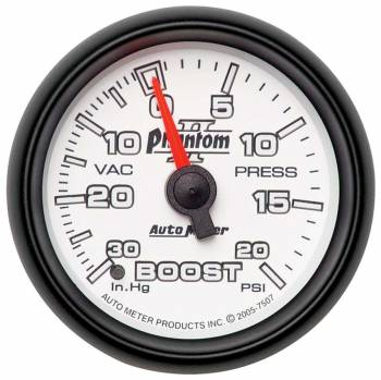 Auto Meter - Auto Meter Phantom II Mechanical Boost / Vacuum Gauge - 2-1/16 in.
