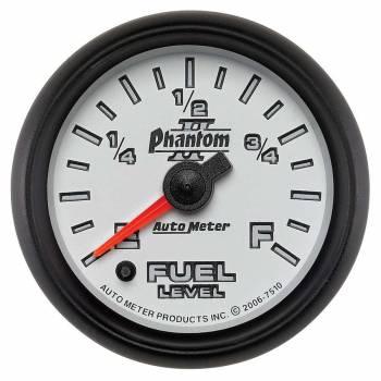 Auto Meter - Auto Meter Phantom II Electric Programmable Fuel Level Gauge - 2-1/16 in.