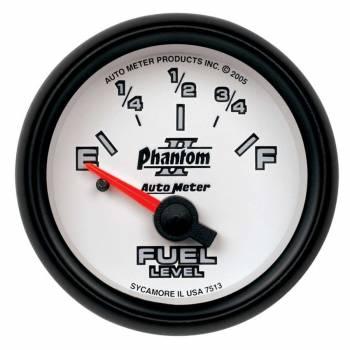 Auto Meter - Auto Meter Phantom II Electric Fuel Level Gauge - 2-1/16 in.
