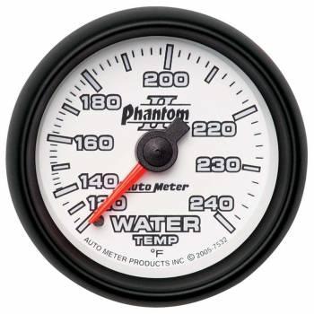 """Auto Meter - Auto Meter 2-1/16"""" Phantom II Water Temperature Gauge - 120-240°"""