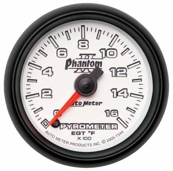 Auto Meter - Auto Meter Phantom II Electric Pyrometer Gauge Kit - 2-1/16 in.